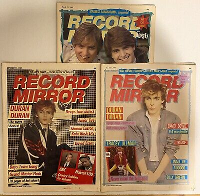 DURAN DURAN : RECORD MIRROR Magazines 3 Issues Sept 82, March 83 1980's • 6.99£