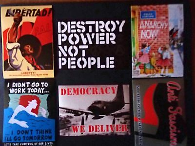 Anarcho Stickers Six Pack / Anarchy / Punk / Class War / Festival / Protest • 2.99£