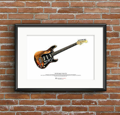 Stevie Ray Vaughan's Stratocaster Number One ART POSTER A3 Size • 10.99£