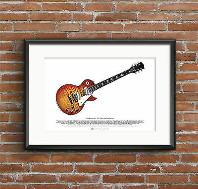 Mike Bloomfield's 1959 Gibson Les Paul Standard ART POSTER A3 Size • 10.99£