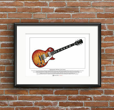 Mike Bloomfield's Gibson Les Paul Standard Ltd Edition Fine Art Print A3 Size • 18.50£