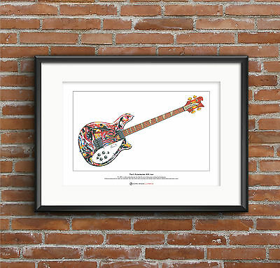 Mani's Rickenbacker 4005 Bass Limited Edition Fine Art Print A3 Size • 18.50£
