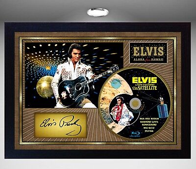 Elvis Presley Aloha From Hawaii SIGNED FRAMED PHOTO CD Disc Perfect Gift • 17.99£