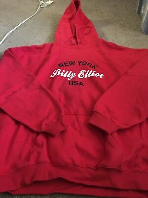 Billy Elliot Broadway Musical Elton John Adult 2XL XXL Hoodie Sweat Shirt NYC • 42.92£