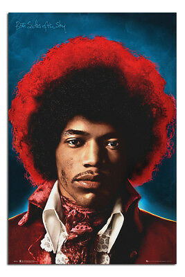 Jimi Hendrix Both Sides Of The Sky Poster New - Maxi Size 36 X 24 Inch • 7.99£
