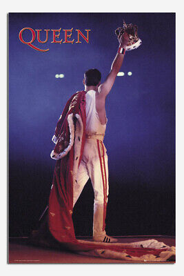Queen Freddie Mercury Crown Official 24 X 36 Inch Poster New • 8£