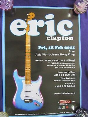 ERIC CLAPTON Concert Tour Poster Live In Hong Kong 18th February 2011  • 9.99£