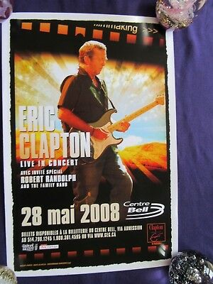 Original ERIC CLAPTON Live In Concert Tour Poster 28th May 2008 (46 X 31 Cm)  • 9.99£