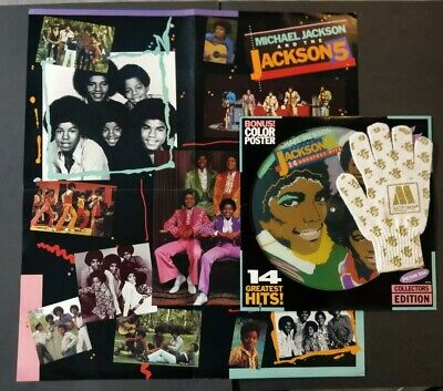 Michael Jackson Picture Disc, Poster & Glove - Motown Records 1984 • 45£