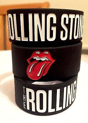 The Rolling Stones Rock Band Silicone Wristband Bracelet • 5.99£