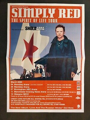 Simply Red UK Tour Poster 2000 • 12£