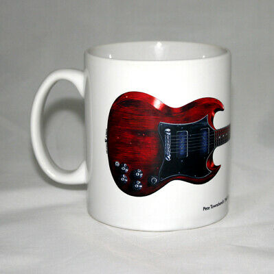 Guitar Mug. Pete Townshend's Gibson SG Special Guitar Illustration. • 14.99£
