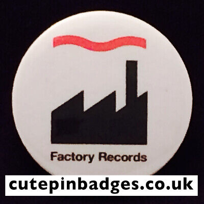 Factory Records Badge - 5 Sizes 25mm To 77mm Pin Button Manchester Hacienda Fac • 1.35£