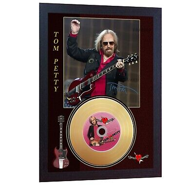 Tom Petty Gold Vinyl CD Record Signed Photo Print Framed  • 19.99£