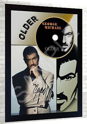 George Michael Older SIGNED FRAMED PHOTO Print And CD Disc Perfect Gift • 19.99£