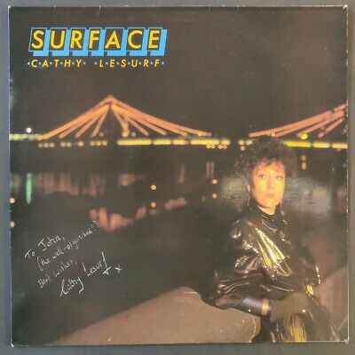 Cathy Lesurf Signed 'Surface' Vinyl - 1985 - Fun Records (FUN 002) • 20£