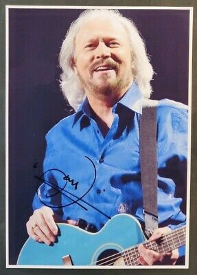 Barry Gibb Hand Signed A4 Photo With COA - The Bee Gees - 2017 • 60£
