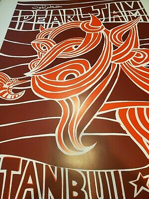 Pearl Jam 2XL Poster Print Istanbul Limited Edition S/N AMES BROS • 370.37£