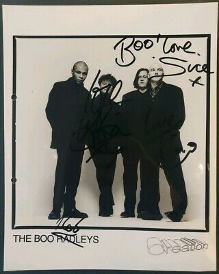 The Boo Radleys Fully Signed Promo Photo With COA - Creation Records • 30£