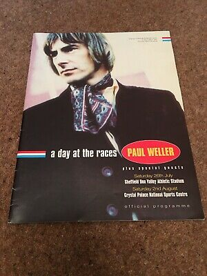 Paul Weller Rare 'a Day At The Races' 1997 Official Programme Gig Booklet • 20£