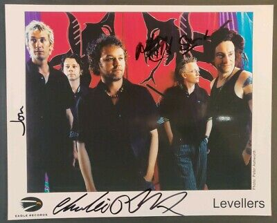 The Levellers Signed Promo Photo - Eagle Records • 25£