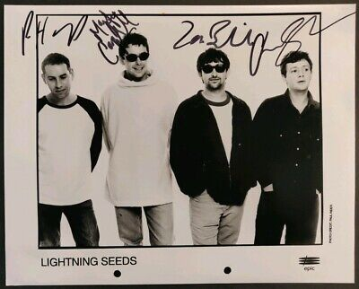 The Lightning Seeds Signed Photo - Epic Records • 30£