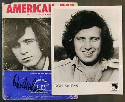 Don McLean Signed Cover Sheet + Promo Photo • 25£