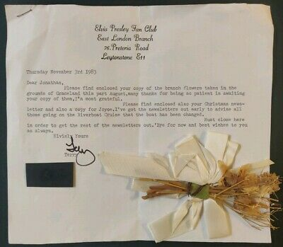 Elvis Presley Fan Club Item From Graceland With Letter From 1983 • 30£