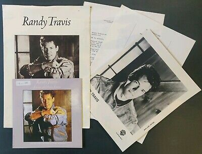 Randy Travis Press Pack From 1988 - Warner Bros. Records • 18£