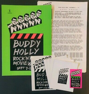 Buddy Holly Week 1981 Press Pack - MPL Presents • 30£