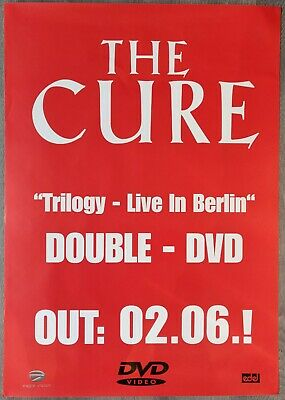 The Cure 'Trilogy - Live In Berlin DVD' Promo Poster From 2003 • 35£