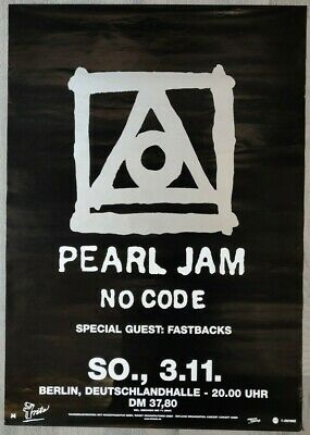 Pearl Jam German Promo/Gig Poster From Berlin, 1996 - No Code Tour • 35£
