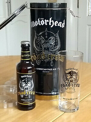 Motorhead Road Crew Special Edition Camerons Pale Ale Tin & Pint Glass Set • 36£
