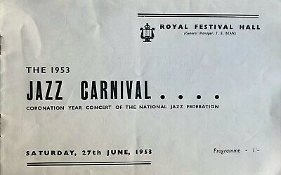 1953 Jazz Carnival Programme Ken Colyer / Mike Daniels Royal Festival Hall  • 13£