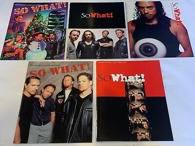Metallica So What X 5 Fanclub Magazines Like New • 19.99£
