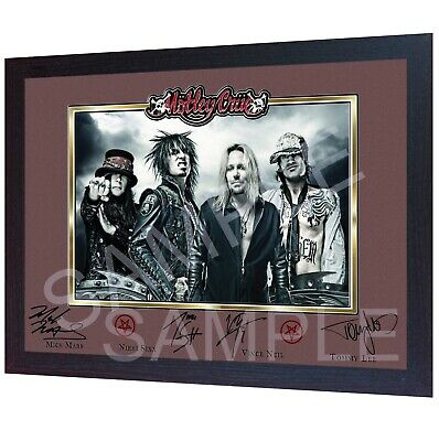 Motley Crue Signed Autograph Music Pre-print Framed POSTER Perfect Gift • 19.99£