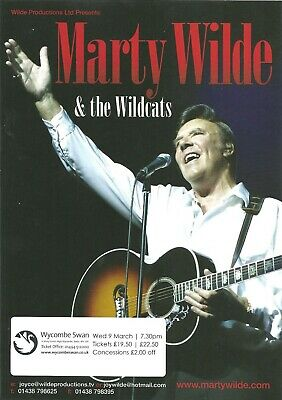 MARTY WILDE  WYCOMBE SWAN MARCH 9th 2011 FLYER • 0.99£