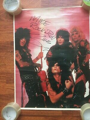 MOTLEY CRUE Signed/autographed Poster By NIKKI SIXX With Inscription • 197.42£