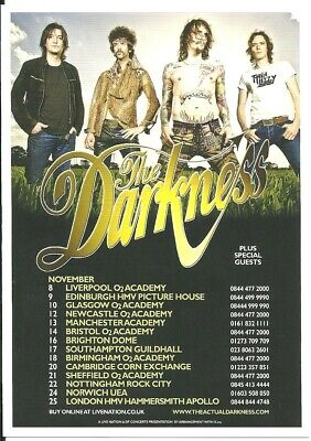 The Darkness  Uk Tour 2011 Flyer • 0.99£