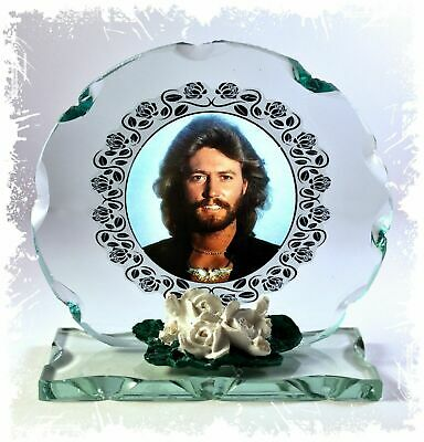 Barry Gibb, Bee Gees, Cut Glass Round Plaque Ltd Edition MemorabiliaCollectible • 27£