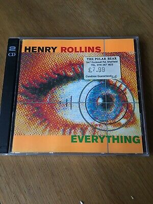 Henry Rollins - Everything 2CD 1996 AUDIO BOOK • 4.50£