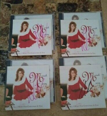 Mariah Carey All I Want For Christmas Is You Autographed Cd Single Bottom Right • 23.62£