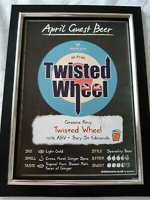Twisted Wheel Real Ale Framed Picture • 7£