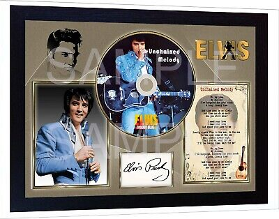 Elvis Presley Unchained Melody Moody Blue SIGNED FRAMED PHOTO CD • 19.99£