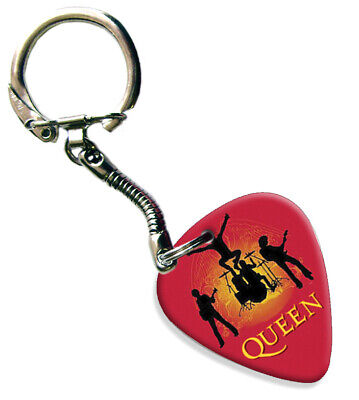 Queen ( Red Band Silhouette ) Guitar Pick Keyring • 4.99£