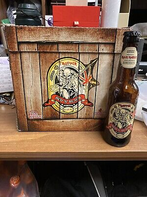 Trooper Red N Black Beer Bottle And Empty Box Iron Maiden • 20£