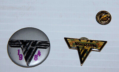 Van Halen Cloisonne Metal Pin And 1984 Button Badge • 14.95£