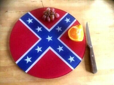Rockabilly Flag  Glass Chopping Board 30cm  Rock N Roll • 14.99£
