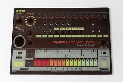 ROLAND 808 DRUM MACHINE  GLASS CHOPPING CHEESE BOARD 38 X 29 Cm  WORK TOP • 24.99£