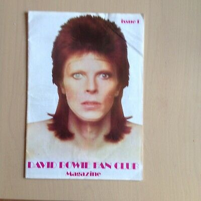 David Bowie - ORIGINAL Late 1973 UK FAN CLUB MAGAZINE NO 1  - RARE L@@K • 30£